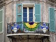 New Orleans Posters - New Orleans Louisiana during Mardi Gras in the French Quarter Poster by Carol M Highsmith