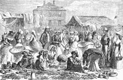 Black Commerce Art - New Orleans: Market, 1866 by Granger