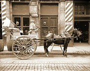 Padre Art Photos - New Orleans Milk Cart in Louisiana 1905 by Padre Art