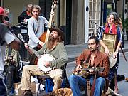 Entertainers Metal Prints - New Orleans Musicians Metal Print by Vijay Sharon Govender