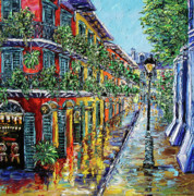 New Orleans Oil Paintings - New Orleans Oil Painting - NOLA Drizzle by Beata Sasik