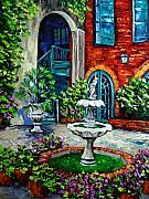 New Orleans Oil Paintings - New Orleans Painting Brulatour Got a Penny by Beata Sasik