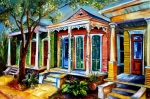 Houses Prints Framed Prints - New Orleans Plain and Fancy Framed Print by Diane Millsap