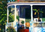 New Orleans Scenes Paintings - New Orleans Porch by Karla Gilson Hunt
