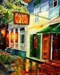 Grill Paintings - New Orleans Port of Call by Diane Millsap