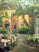 Pat O Briens Paintings - New Orleans Restaurant by Gretchen Allen