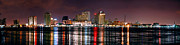 City Scenes Art - New Orleans Skyline at NIGHT by Jon Holiday