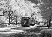 Telephone Pole Prints - New Orleans: Streetcar Print by Granger