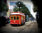 Canal Street Photos - New Orleans Streetcar by Perry Webster
