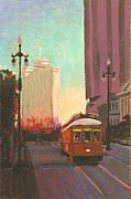 Trolley Paintings - New Orleans Trolley by Robert Bissett