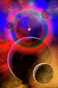 Space Art Prints - New Planets And Solar Systems Forming Print by Mark Stevenson