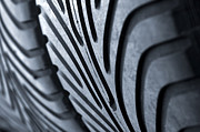 Garage Prints - New racing tires Print by Carlos Caetano
