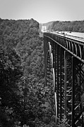 Single Span Posters - New River Gorge Bridge Fayetteville West Virginia Poster by Teresa Mucha