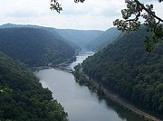 Christine Edwards Posters - New River Gorge Poster by Christine Edwards