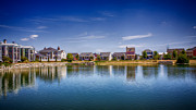 New At Digital Art Framed Prints - New Town on the Lake Framed Print by Bill Tiepelman
