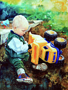 Child Portraits Prints - New Truck Print by Hanne Lore Koehler