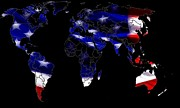 Usa Map Digital Art - New World Map by Stefan Kuhn