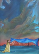 Surrealism Painting Acrylic Prints - New world Acrylic Print by Richard    J Thorpe