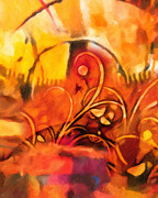 Warm Colors Painting Posters - New World Symphony Poster by Lutz Baar