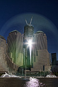 Centre Photo Framed Prints - New World Trade Center Framed Print by David Smith