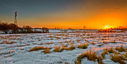 Winter Scene Photos - New Year Sunrise 2011 by Bill  Wakeley