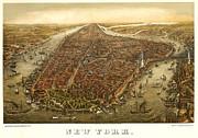 New York 1873 Print by Donna Leach