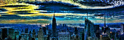 City Scape Digital Art Originals - New York 2009 by Andris Mednis