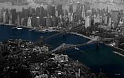 New York Aerial Print by Ms Judi