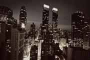 City Buildings Prints - New York After Dark Print by Ariane Moshayedi