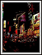 Story  Little Bird Posters - New York At Night-3 Poster by Anand Swaroop Manchiraju