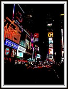 Story  Little Bird Posters - New York At Night-4 Poster by Anand Swaroop Manchiraju