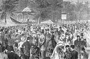 Bandstand Prints - New York: Bandstand, 1869 Print by Granger