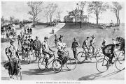 Bicycling Photos - New York: Bicycling, 1895 by Granger