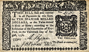 North America Drawings Prints - New York Bill 1776 Print by Granger