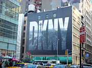 Dkny Prints - New York Billboard Print by Sun Skovy