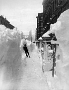 1888 Framed Prints - New York: Blizzard Of 1888 Framed Print by Granger