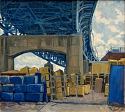 Sloan Paintings - New York Blue by Thor Wickstrom
