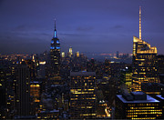 New York City Skyline Photos - New York Blue by Vicki Jauron