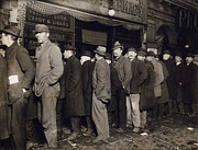 1907 Prints - New York: Bread Line, 1907 Print by Granger
