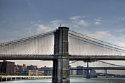 Manhattan Bridge Photos - New York Bridges by Kelly Wade