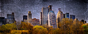 Nyc Digital Art Metal Prints - New York Buildings Metal Print by Svetlana Sewell