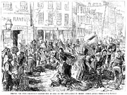 Crowd Scene Art - New York: Charity, 1877 by Granger