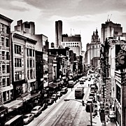 Landscapes Posters - New York City - Above Chinatown Poster by Vivienne Gucwa