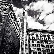 Cities Art - New York City - Empire State Building and Clouds by Vivienne Gucwa