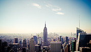 Building Prints Photos - New York City - Empire State Building Panorama by Thomas Richter