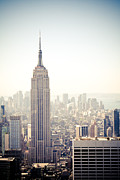 New York City Framed Prints - New York City - Empire State Building Framed Print by Thomas Richter