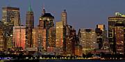 New York City At Night Print by Alexander Mendoza