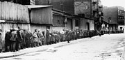 Great Depression Prints - New York City: Bread Line Print by Granger
