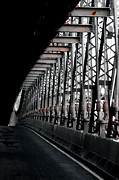 Broadway Digital Art Metal Prints - New York City Bridge Industrial Metal Print by Anahi DeCanio