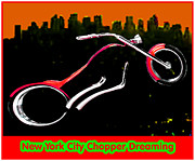 New York City Chopper Dreaming Red Jgibney The Museum Zazzle Gifts Fa Print by The MUSEUM Artist Series jGibney